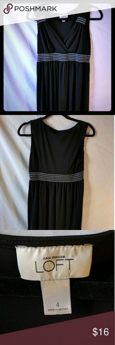 Ann Taylor Loft Dress Sleeveless Black Sz 4 EUC Excellent cosmetic condition, no holes/rips/stains. All tags are present. Women's Size 4. 65% Rayon 35% Polyester. Machine Washable.  Reasonable offers are more than welcomed. Remember to bundle up and save (10% discount in 3+ bundles, plus no additional shipping). Sorry but no trades or modeling.    Thanks for watching! Ann Taylor Dresses Midi