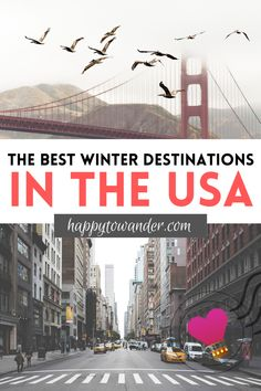 MUST-SAVE: This epic list of American destinations is perfect for winter travel - with fun ideas like sunny destinations in the USA during winter time, along with frosty and beautiful winter places in the US. Whether you're looking for festive Christmas vacations or warm winter vacations in the US, this list is for you!