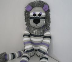 Lewis the Sock Lion Made to Order by YouMakeMeMe on Etsy