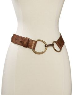 Streets Ahead Women's Distressed Leather Hip Belt With Ring