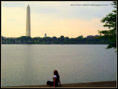 The Washington Monument from afar.  Photo via downthewrabbithole.blogspot.com #travel #bucketlist