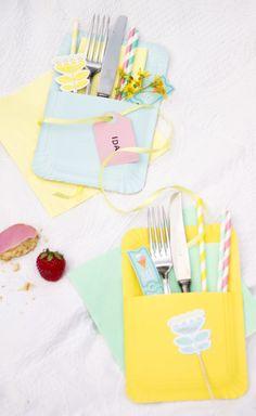 Kleine Bestecktaschen aus Papptellern fürs perfekte Picknickglück – Wundertütchen