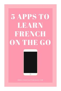 5 Apps to Learn French on the Go — Every Day Parisian English French Dictionary, Flashcard App, French Numbers, Learn To Speak French, Learning Organization, Study French, French Phrases, French Language Learning, French Tips