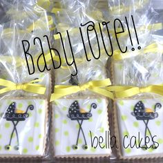 Baby shower cookie favors Bella cakes