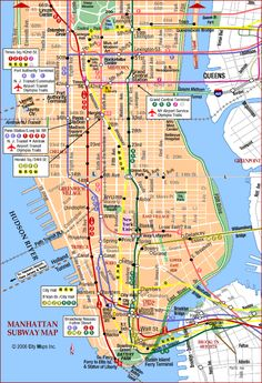 New York City Map Manhattan Manhattan Tourist Map See map details
