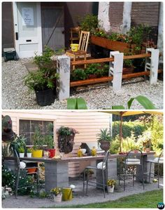 DIY Cinder Block Garden Fence-10 Simple Cinder Block Garden Projects #smalloutdoorideas