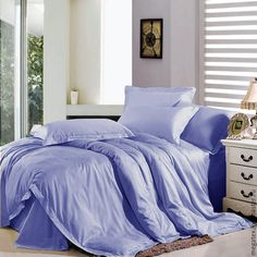 Купить Премиум-сатин гладкий (лавандовый) - хлопок, ткани для постельного, для постельного, для постельного белья
