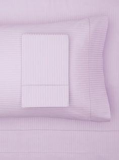 80% OFF 300 TC Satin Stripe Sheet Set (Lilac)