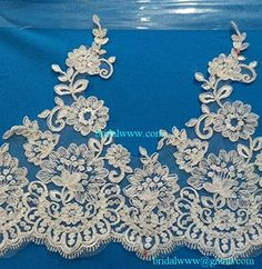 Quality Ivory / Off White Color Corded Embroidery Bridal Lace Trim Wedding Dresses DIY Lace Trim Corded and Embroidered Lace Trim for Bridal Gown Bridal Veil DIY Promotion SALE * Want to know more, click on the image.