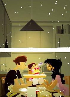 LA FELICIDAD SI EXISTE!!! Las preciosas, cálidas y conmovedoras ilustraciones del artista Pascal Campion