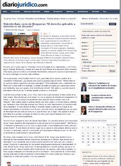 Diario Jurídico, que ya realizó una 'previa' sobre el evento 'Internet Law', también cubrió lo acontecido en el mismo en un artículo posterior.