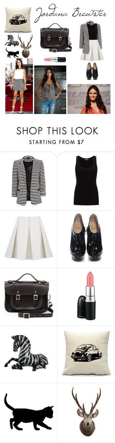 """""""Jordana Brewster <3"""" by larissa-k ❤ liked on Polyvore featuring Wallis, Jigsaw, See by Chloé, Christian Louboutin, The Cambridge Satchel Company, MAC Cosmetics and WALL"""