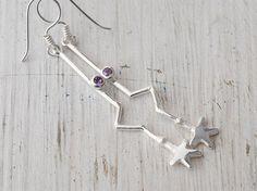 Sterling Silver Star Earring Long Drop Star by SunSanJewelry Handmade Silver Jewellery, Sterling Silver Jewelry, Star Jewelry, Fine Jewelry, Star Earrings, Drop Earrings, Constellation Earrings, Silver Lining, Minimalist Earrings