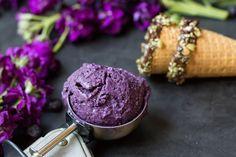 Blaulbeer-Eiscreme