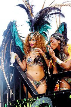 chapelhilluminati:  celebritiesofcolor:  Rihanna on a float at Kadooment day parade in Barbados  Barbadian Goddess