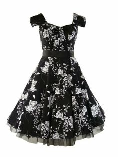 50's Vintage Tea Prom Dress Floral Black & White - S = 6 (US), 10 (UK) Tiger Milly,http://www.amazon.com/dp/B00AZHRN12/ref=cm_sw_r_pi_dp_VwKmrb114QK62EAE