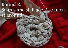 How to start a Crochet Rag Rug Free Pattern