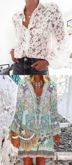 Summer Fashion Outfits, Spring Summer Fashion, Cool Outfits, Everyday Fashion, Blouses For Women, Beachwear, Modern, Style Me, Fashion Trends