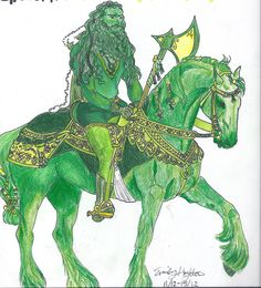 Green Knight, Middle English, Green Man, 14th Century, Folklore, Drawings, Art, Art Background, Kunst