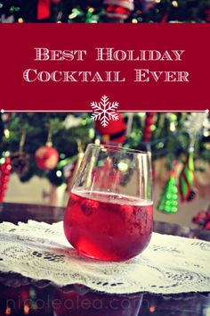 holiday cocktail