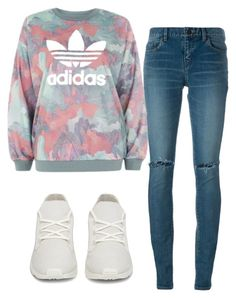 """""""Untitled #298"""" by aaisha123 ❤ liked on Polyvore featuring Yves Saint Laurent and adidas"""