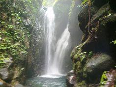 Twin waterfall in Buleleng, Gigit. North Bali Indonesia
