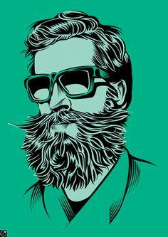 Bearded guy by Yann Legendrefor The Wall Street Journal