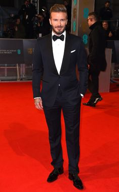David Beckham from 2015 BAFTA Film Awards: Red Carpet Arrivals  The-first time presenter named Birdman and The Theory of Everything as two of his favorite movies.