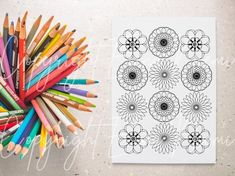 Cool Coloring Pages, Mandala Coloring Pages, Printable Coloring Pages, Adult Coloring Pages, Coloring Sheets, Wall Art Crafts, Diy Wall Art, Relaxing Art, Relaxation Gifts