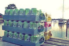 Getränke nicht vergessen. Pfandfreies bunkern in Dänemark. Proviant und Getränke richtig planen für den Segeltörn