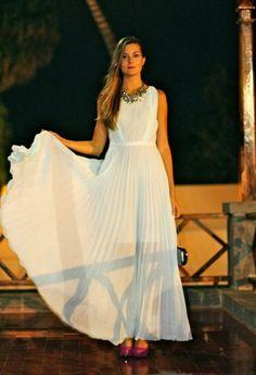 #wedding #outfit #jovonnalondon #outfit #ootd #maxidress #fashion #blogger #marilynscloset #zara #lastrada  http://marilynsclosetblog.blogspot.com.es/2013/11/baby-blue-wedding-outfit.html