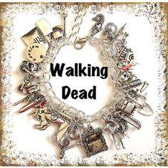 zombie survival charm bracelet for sale   WALKING DEAD Jewelry, Zombie Jewelry, Zombie Hunter, Charm Bracelet ...