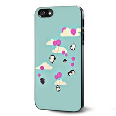Cute penguines and baloons Samsung Galaxy S3 S4 S5 Case Samsung Galaxy Note 3 Case iPhone 4 4S 5 5S 5C Case Ipod Touch 4 5 Case