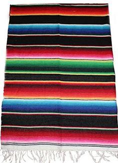 Mexican Serape Saltillo Blanket (X-Small, Black) Del Mex http://www.amazon.com/dp/B00ACEPCD4/ref=cm_sw_r_pi_dp_CYdYvb0H3908H