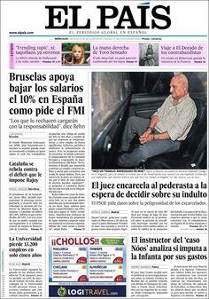 Los Titulares y Portadas de Noticias Destacadas Españolas del 7 de Agosto de 2013 del Diario El País ¿Que le pareció esta Portada de este Diario Español?