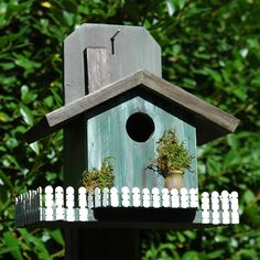 Wilderness Series Products WSBH126 Cottage with a Fence Bird House | ATG Stores