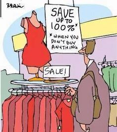 Save up to 100% (when you don't buy anything)