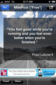 1/2 Training - Day 18: 4 miles in 54:41 min, 2 min water break & 3 miles in 41:02 min for a total of 7 miles. No blisters although I think I'm getting new calluses . Oh well, more pedi's then. Weekly mileage: 14 miles. Next wk calls for longer runs but less total miles.