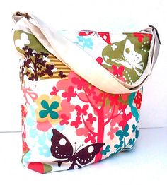 Limited Edition Diaper Bag Set Super Garden by BarnofColors, $78.00