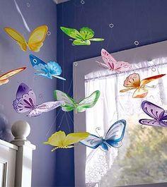 Magic Cabin Decorative Butterflies, set of 12 Lauren & Emma Fairy Bedroom, Garden Bedroom, Girls Bedroom, Bedroom Decor, Bedroom Ideas, Nature Bedroom, Nursery Ideas, Nursery Decor, Bedrooms