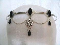 Priestess Pentacle Circlet wiccan jewelry crown by Sheekydoodle