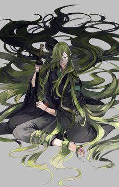 Uguisumaru with long hair??