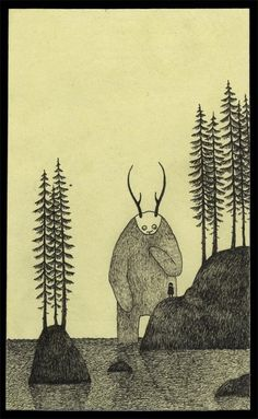 John Kenn Mortensen Post-Its Monster Drawings - via BuzzFeed Mobile