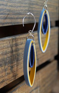 Modern Paper Earrings / Lightweight Earrings / by RogueTheoryPULP