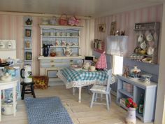 A Fairytale come true: Louise's kitchen is finished. Such a pretty kitchen.