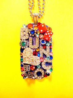 Bunco Dog Tag Pendant Number 1133 by BradosBling on Etsy, $39.99