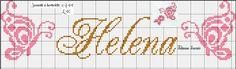 Borboletas nome Helena ponto cruz, butterfly cross stitch, monocromático