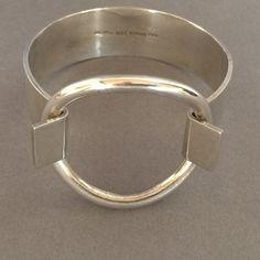 Gallery 925 - Hans Hansen Sterling Silver Ring Bracelet by Bent Gabrielsen., Handmade Sterling Silver.