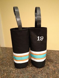 Hockey pants wine bottle gift bag - for the team