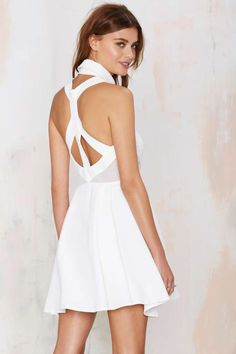 Nasty Gal Black Magic Woman Dress - Ivory - Fit-n-Flare | Going Out | LWD | Dresses | Dresses